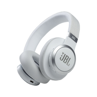 JBL Live 660NC Wireless Noise Cancelling OverEar Headphones, White