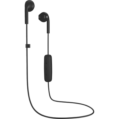 Happy Plugs Earbuds Plus Wireless with Mic, Black