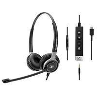 Sennheiser SC 665 USB C Wired Noise Cancelling Stereo Binaural Headset with Mic