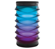 iHome iBT76 Rechargeable Bluetooth Speaker in Black with Color Changing LEDs