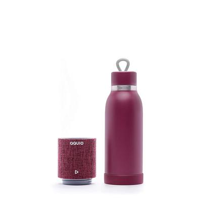 iHome Aquio Water Bottle with Removable Bluetooth Speaker Purple