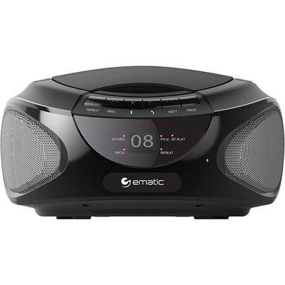 Ematic CD Boombox with Bluetooth Audio and Speakerphone