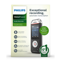Philips VoiceTracer DVT2810 Audio Recorder with 8GB Internal Storage