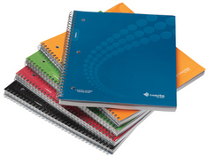 Livescribe Dot Matrix CollegeRuled Notebooks,Asst