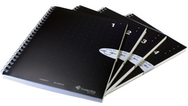 Livescribe A5 Single Subject Notebook 4Pk Black