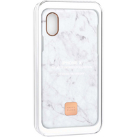 Happy Plugs Slim Case, iPhone X, White Marble