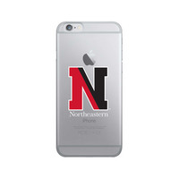 Centon Northeastern University Clear Phone Case, Classic V1  iPhone 8766s