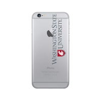 Centon Washington State University Clear Phone Case, Classic V1  iPhone 77S