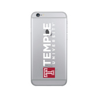 Centon Temple University Clear Phone Case, Classic  iPhone 678 Plus