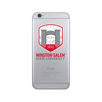 Centon WinstonSalem State University Clear Phone Case, Classic V1  iPhone 8766s Plus