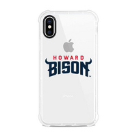 Centon Howard University V2 Clear Slim Rugged Edge Case, Classic V1  iPhone X