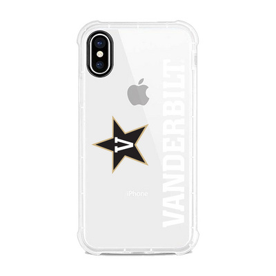 Centon Vanderbilt University Clear Slim Rugged Edge Case, Classic V1  iPhone X