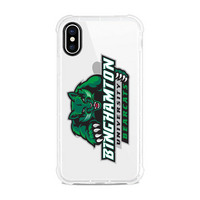 Centon Binghamton University Clear Slim Rugged Edge Case, Classic V1  iPhone X