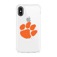 Centon Clemson University V2 Clear Slim Rugged Edge Case, Classic V1  iPhone X