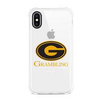 Centon Grambling State University Clear Slim Rugged Edge Case, Classic V1  iPhone X