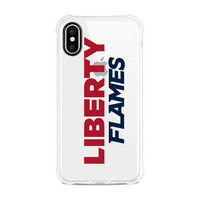 Centon Liberty University Clear Slim Rugged Edge Case, Classic V1  iPhone X