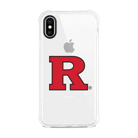 Centon Rutgers University V2 Clear Slim Rugged Edge Case, Classic V1  iPhone X