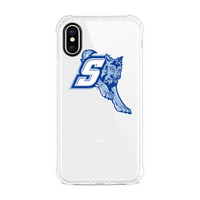Centon Sonoma State University Clear Slim Rugged Edge Case, Classic V1  iPhone X