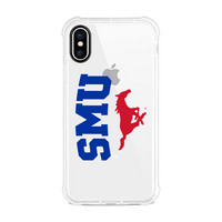 Centon Southern Methodist University Clear Slim Rugged Edge Case, Classic V1  iPhone X