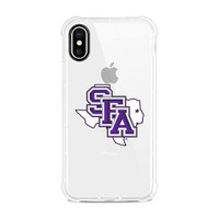 Centon Stephen F. Austin State University Clear Slim Rugged Edge Case, Classic V1  iPhone X