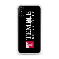 Centon Temple University Clear Slim Rugged Edge Case, Classic V1  iPhone X