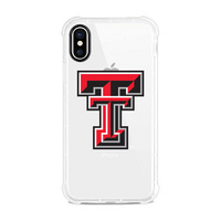 Centon Texas Tech University Clear Slim Rugged Edge Case, Classic V1  iPhone X