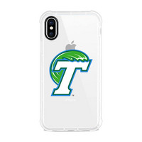 Centon Tulane University V3 Clear Slim Rugged Edge Case, Classic V1  iPhone X