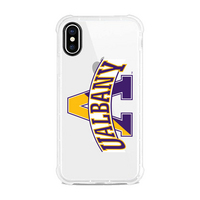 Centon University at Albany Clear Slim Rugged Edge Case, Classic V1  iPhone X