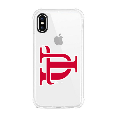 Centon University of Tampa Clear Slim Rugged Edge Case, Classic V1  iPhone X