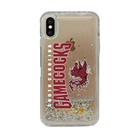 Centon University of South Carolina Clear Glitter Shell Phone Case, Classic V1  iPhone X