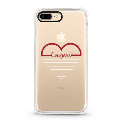 Clear Rugged Edge Phone Case, Heart V1  iPhone 78 Hybrid