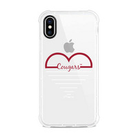 Clear Rugged Edge Phone Case, Heart V1  iPhone X