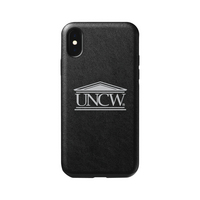 University of North Carolina at Wilmington V2 Leather Shell Phone Case, Black, Alumni V2  iPhone X