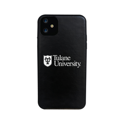 Leather Shell Phone Case, Black, Alumni V2  iPhone 11