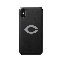 Leather Shell Phone Case, Black, Alumni V2  iPhone XXs