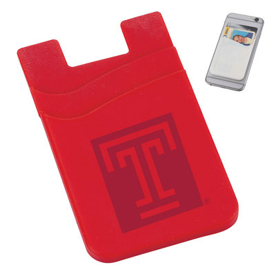 Dual Pocket Silicone Phone Wallet