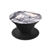 PopSockets Marble popgrip, White