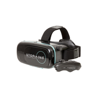 ReTrak Utopia 360 Virtual Reality Headset and Bluetooth Remote, Black