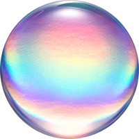 Popsocket  800959 PopGrip, Rainbow Orb Gloss