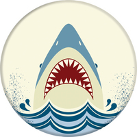 PopSockets 801008 Swappable PopGrip Shark Jump