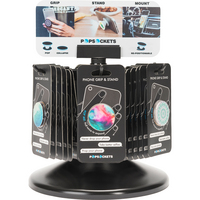 PopSockets Swapple PopGrip, Black Aluminum