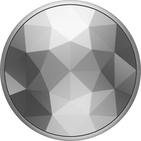 PopSockets 800925 Swappable PopGrip Disco Crystal Silver