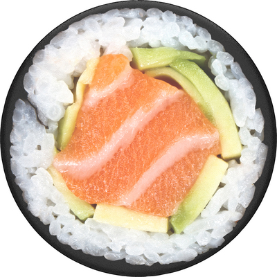 PopSockets 800988 Swappable PopGrip Salmon Roll