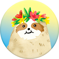 PopSockets 801009 Swappable PopGrip Aloha Sloth