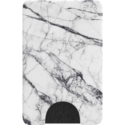 Popsocket  800860 PopWallet, 2.28x3.54x0.22in,White Marble