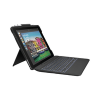 Logitech Slim Combo Case with Detachable Keyboard and Smart Connector, iPad Pro 10.5in, Black