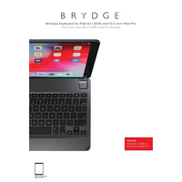 Brydge iPad 10.2 Keyboard, 1.8in, Silver