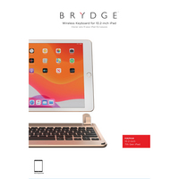 Brydge iPad 10.2 Keyboard, iPad 8th & 7th Generation, Gold