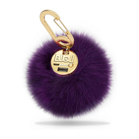 BuQu Power Poof Purse Charm 2500 mAh Power Bank for USB Devices in Purple