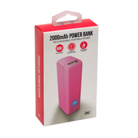 GEMS 2000 MAH POWER BANK PINK